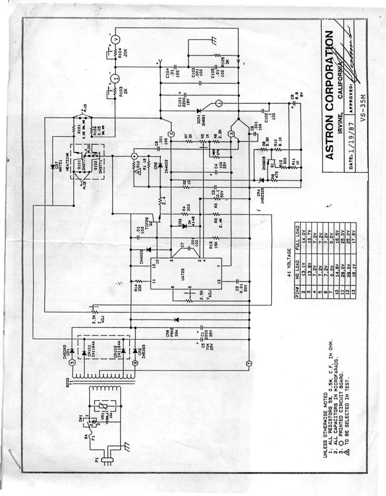 Solucionado Fuente Astron Mod Rsvs35m Reparacion De
